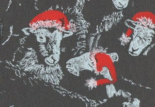 Christmas Sheep (card), Melanie Paice
