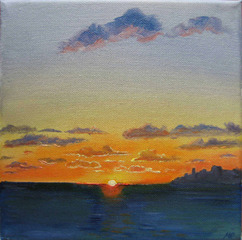 Mediterranean sunset,Melanie Paice