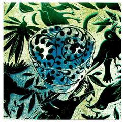 Bowl on a Bird cloth, Tania Beaumont