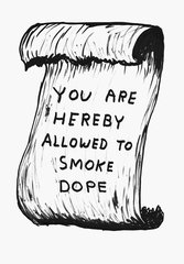 Untitled (You are hereby allowed to smoke dope), David Shrigley