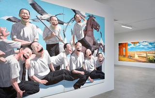 Exhibition view, Yue Minjun