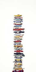 Twentyofive Stacked Vehicles, Jeremy Dickinson