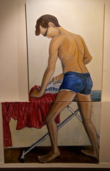 Self Portrait ironing, Corey Thering