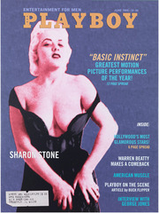 Playboy Magazine: Sharon Stone,Bob Dylan