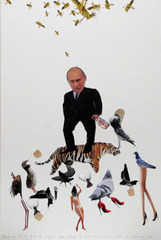 Vladimir Putin Feeds the Pigeons Even Though He (Correctly) Suspects They are Mocking Him ,Jennifer Catron &amp; Paul Outlaw