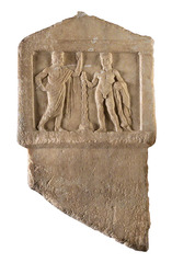 Relief with Antiochos and Herakles,