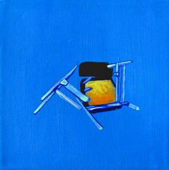 Chair on Blue, Joshua Petker