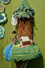 Forest, For The Trees (detail), Arroyo Arts Collective Artists, Yarn Bombing Los Angeles, Heather Hogan