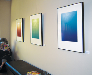 From right: Nebula, Surfacing, Glacial,Leila Singleton