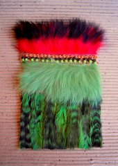 """Peruvian FeatherWorks Panels"" Study III  2012, paula donis"