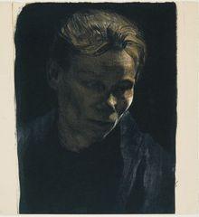 Working Woman with Blue Shawl, Kathe Kollwitz
