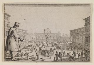 The Market in the Piazza Annunziata at Florence, from The Caprices, Jacques Callot