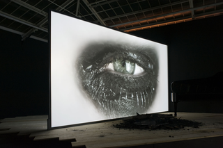 Installation view, Douglas Gordon, Phantom, Galeri Manâ, 2011,