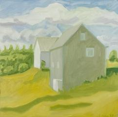 Barn and House,Lois Dodd