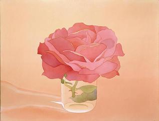 Pink Rose in Glass  , Mark Adams
