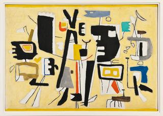 Figuren auf Gelb, Willi Baumeister