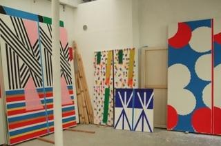 Installation view of Bernard Piffaretti's Studio, Bernard Piffaretti