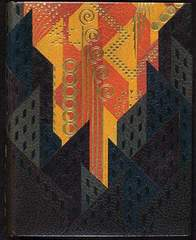 Paul Bonet, binding design for the book Nuits de Paris, by Francis Carco (Paris: Au Sans Pareil, 1927),