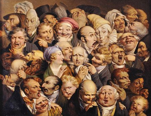 A Gathering of Thirty-five Expressive Heads ,Louis-Léopold Boilly