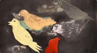 Kleine Vogelstudie, detail, aldwin van de ven