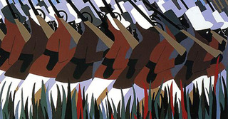 The March, from the Toussaint L\'Ouverture Series, Jacob Lawrence