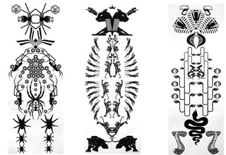 Spider, Panther and Snake Totems, Vandana Jain