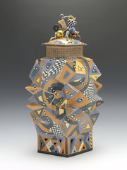 Untitled Lidded Vessel,Ralph Bacerra