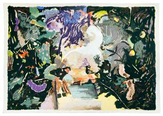Grün Abstract, Matthias Weischer