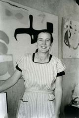 Agnes Martin in Her Studio,