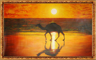 CAMEL AT THE SEA SHORE, C.N. PREMKUMAR