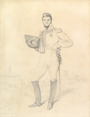 Portrait of General Louis-Étienne Dulong de Rosnay, Jean-Auguste-Dominique Ingres