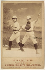 "Card No. 8, from the advertising card series ""Cabinet Photos, Allen & Ginter"" (H807, Type 2), issued by Allen & Ginter to promote Virginia Brights Cigarettes,"
