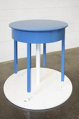 A Round Table with Thirty Coats of Blue Paint,Roy McMakin