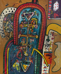 Alan Davie, The Horse that has visions of Immortality No.3 1963, oil on canvas 84 x 68 in / 213.4 x 172.7 cm,