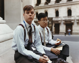 Stranger Passing, Summer Interns Having Lunch, New York,Joel Sternfeld