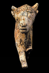 Bison sculpted from mammoth ivory,