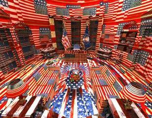 Jasper Johns Oval Office, Jon Rafman