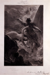 Scène première du Rheingold (Opening Scene of Rheingold), Henri Fantin-Latour
