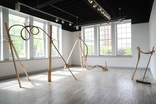 Installation view of *Spatial Drawings III, IV, V* , Emily Hermant