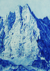 Blue drawing 2 (cliff), Sunette Viljoen