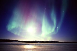 Moon Surrounded by Very Active Aurora , Yuichi Takasaka