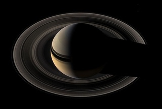 Northern View of Saturn and the Darker Side of the Rings, Cassini, May 9, 2007 ,MICHAEL BENSON