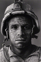 "U.S. Marine Gysgt. Carlos ""OJ"" Orjuela, age 31, Garmsir District, Helmand Province, Afghanistan, from Project: Home Front, Louie Palu, Canadian"