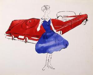Female Fashion Figure ,Andy Warhol