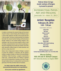 "Invitation to ""Intersecting Paths: Art and Healing"", Group Show"