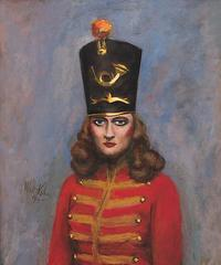 Woman in Majorette Costume,Walt Kuhn
