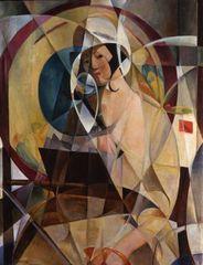 Woman with white bonnet,