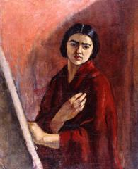 Self Portrait with Ease ,amrita sher-gil