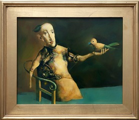 L\'homme à l\'oiseau, Georges Mazilu