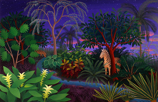 Jungle with Zebras, Amy Lincoln